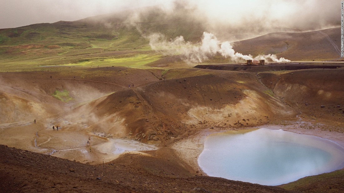 "<strong>Eadu (Krafla, Iceland): </strong>Northeastern Iceland's Krafla Volcano also doubles as the planet of Eadu in ""Rogue One."" It's on Eadu that Jyn Erso, played by Felicity Jones, tries to save her wounded father."