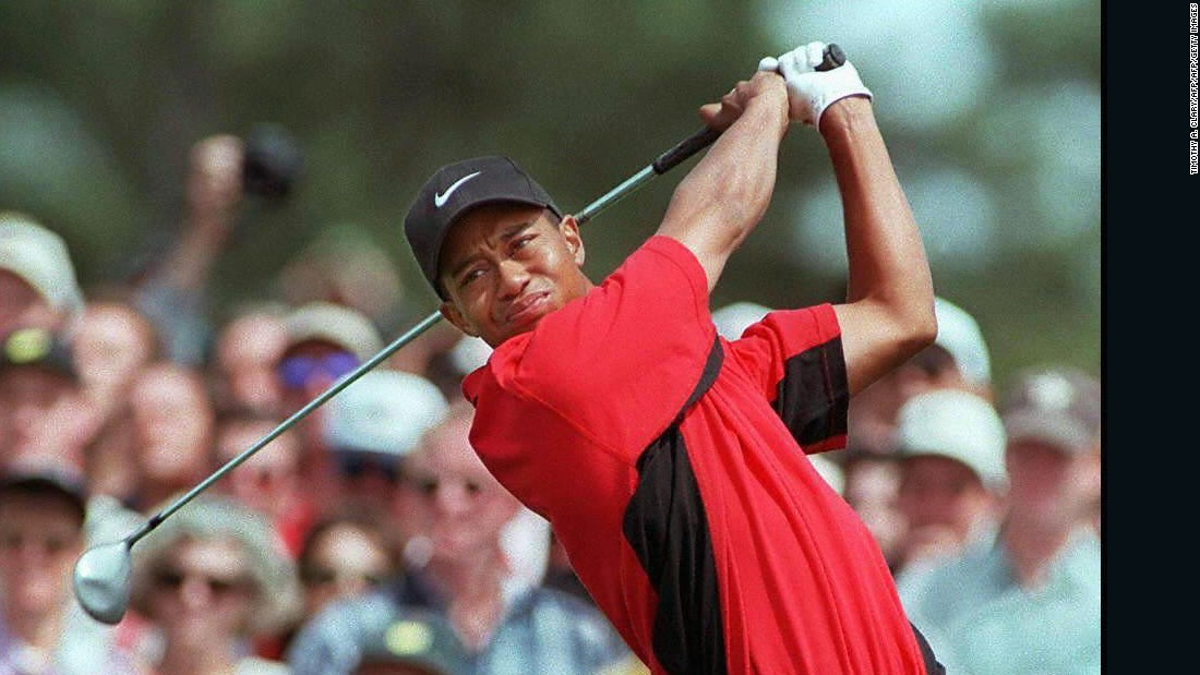 "<strong>American idol: </strong>The young Rory idolized Tiger Woods, who won his first major in 1997 when McIlroy was eight. At nine, he wrote to the US star, saying he was ""coming to get him."""