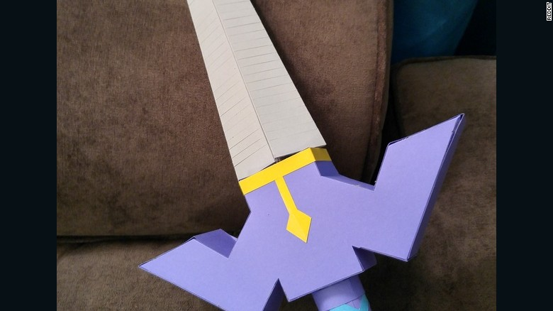 And A Legend Of Zelda Master Sword Its Made Out Paper