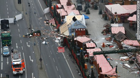 Scene of the Christmas market attack in Berlin.