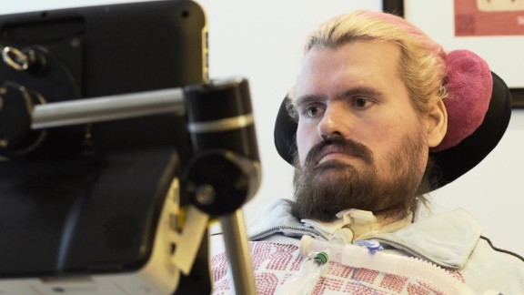 Patrick O'Brien, a filmmaker, moved into the residence in December 2010. He's on a ventilator.