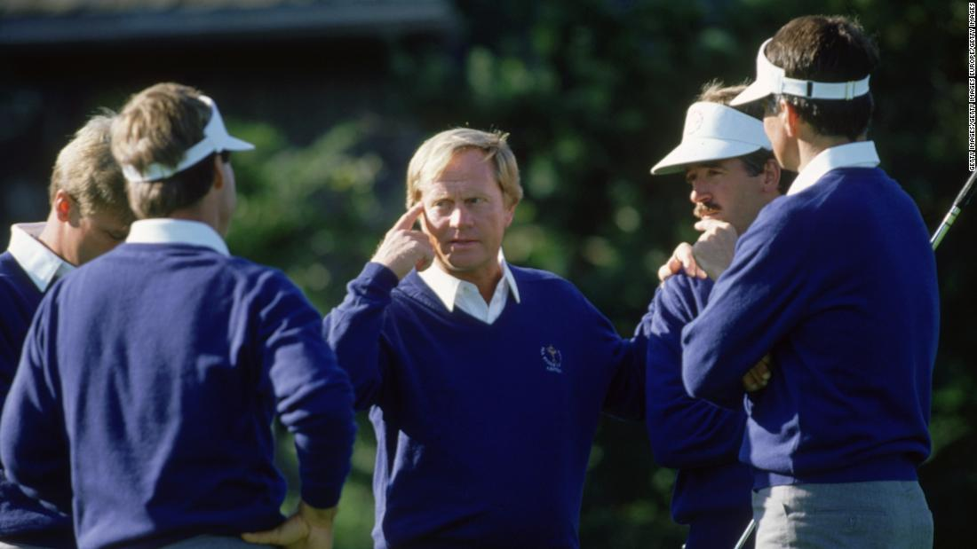 Nicklaus was again captain for the US Ryder Cup side at his Muirfield Village course in Ohio in 1987, but the Americans crashed to their first ever defeat on home soil.