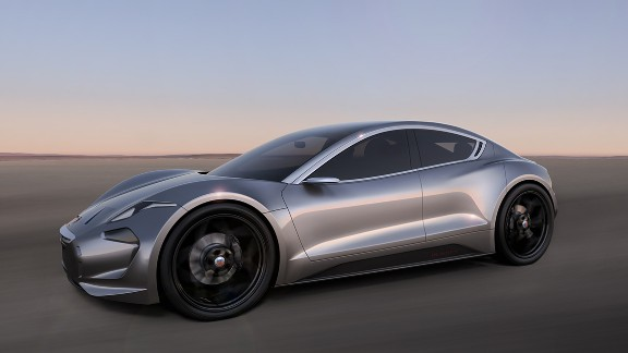 The EMotion will feature a new electric power train layout with battery technology, constructed using graphene. The California-based automaker plans to unveil the car in mid-2017.
