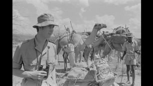 Prince Charles was also a regular visitor to Kenya, as seen in this file photo taken on February 10, 1971.