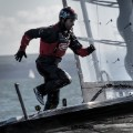 ainslie running on land rover bar boat