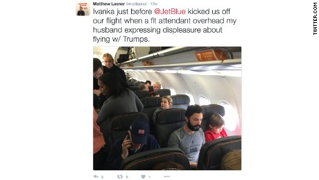 Man removed from flight after allegedly harassing Ivanka