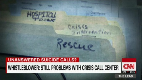 VA suicide hotline still backed up Lead Tapper DNT_00015020