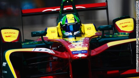 HONG KONG, CHINA - OCTOBER 9: In this handout image supplied by Formula E, Lucas Di Grassi (BRA), ABT Schaeffler Audi Sport, Spark-Abt Sportsline, ABT Schaeffler FE02 during the FIA Formula E Championship Hong Kong ePrix at the Central Harbourfront Circuit on October 9, 2016 in Hong Kong, China. (Photo by LAT Photographic / Formula E via Getty Images)