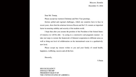 Trump Releases Christmas Letter From Putin Cnn Video