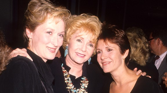 Meryl Streep, left -- who portrayed a character based on Fisher in the film adaptation of Fisher