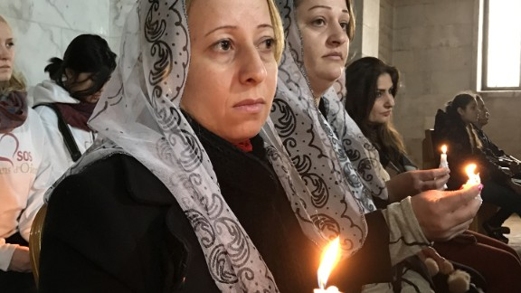 Residents of Bartella were full of emotions as they celebrated Christmas mass in their hometown church for the first time since it fell under ISIS control more than two years ago.