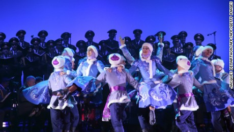 Dancing is a feature of the group's shows.