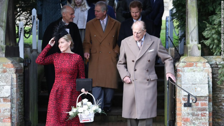 prince philip duke of edinburgh attends a christmas day church service with members of the