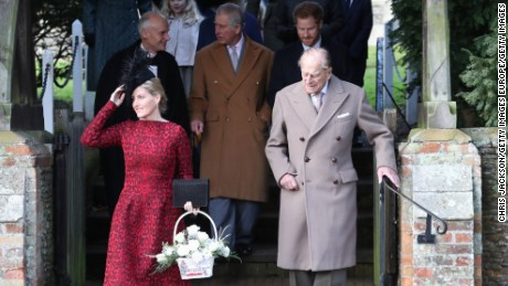 Prince Philip attended the Church Service on Christmas Day.
