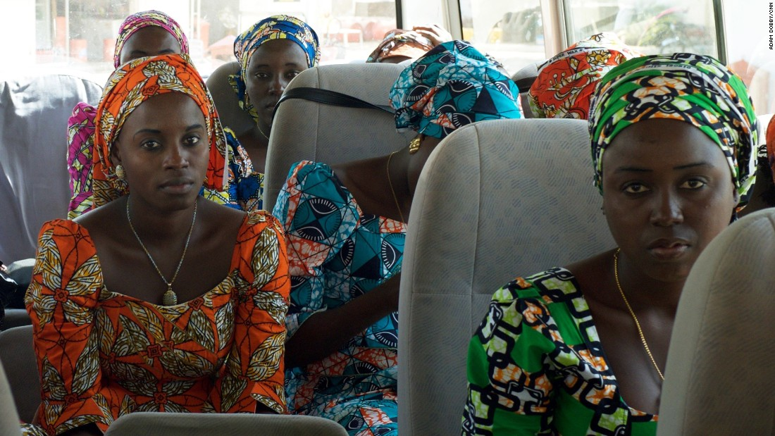 After the flight from Abuja to Yola, the girls take a bus to Chibok. It's been nearly three years since they've seen their families.