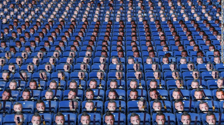 This was the sight facing fans arriving for Leicester City's English Premier League match against Everton on Boxing Day.