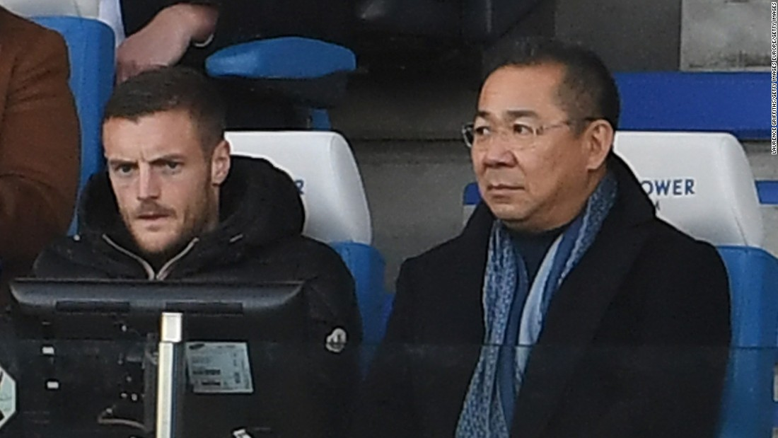 Vardy, who sat next to chairman Vichai Srivaddhanaprabha during the game, will also miss the home match against West Ham on New Year's Eve and the trip to Middlesbrough on January 2.