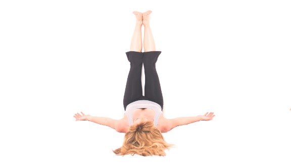Legs above your heart is a relaxing, restorative pose.