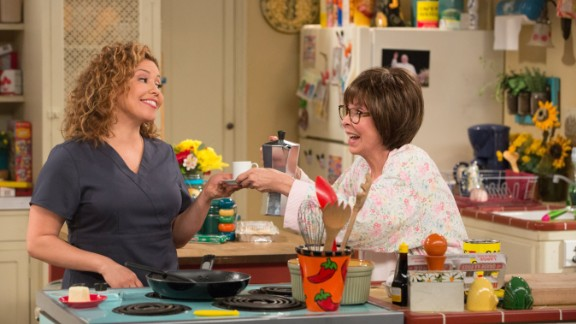"Justina Machado, Rita Moreno in Netflix's ""One Day at a Time"""