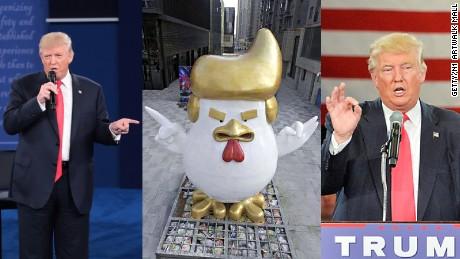 President Trump Emperor Trump Statue