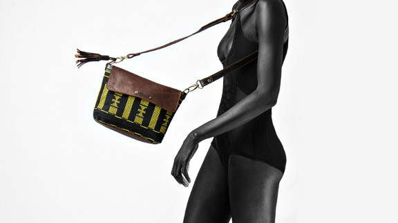 Contemporary creations such as bags and shoes feature locally sourced wool and are made using traditional Yoruba weaving methods.
