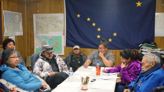 The Shishmaref Erosion and Relocation Coalition met in December 2016 to discuss plans for the move and other matters.