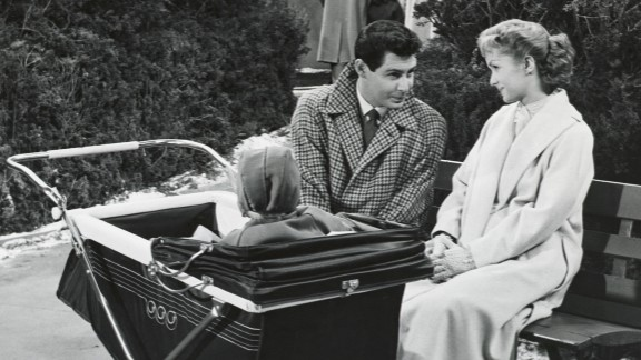 """Reynolds and Fisher co-starred in """"Bundle of Joy,"""" RKO's 1956 Technicolor comedy."""