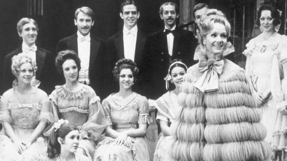 "Reynolds makes her first appearance on Broadway in 1973, opening in a remake of the 1919 musical ""Irene."" Carrie Fisher, seated on floor, also appeared in the musical at age 16."