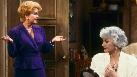 """Reynolds appears with Bea Arthur in an episode of """"The Golden Girls"""" in 1991."""