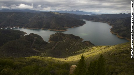 A view of Lake Berryessa near Winters in northern California