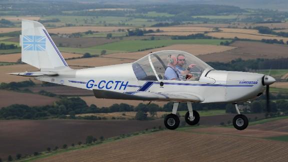 "Ben Davis said his Evektor EV97 is an ""excellent little plane."""