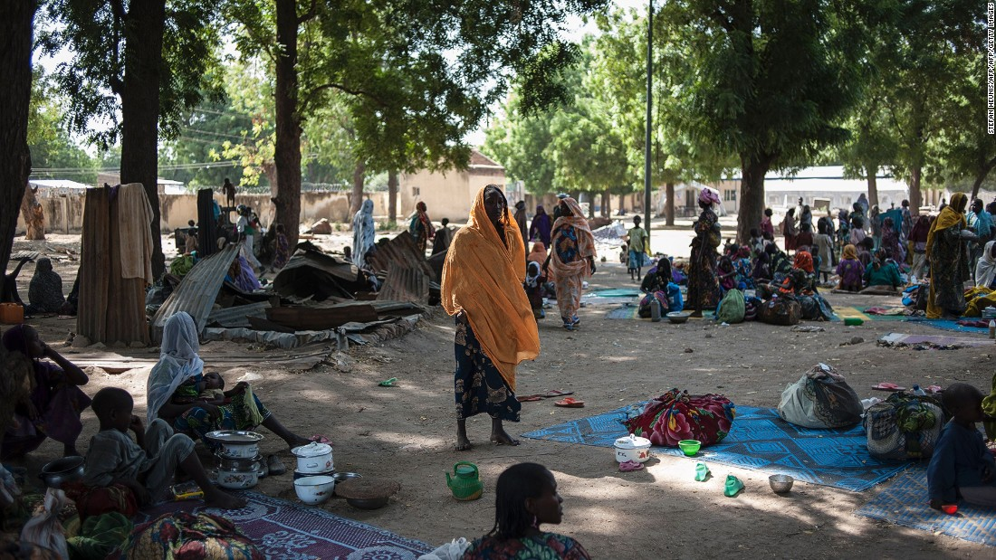 Recent figures from the International Organization for Migration (IOM) show that the situation is still dire, with 1.8 million people in Nigeria estimated to be on the move at the end of 2016. This camp in Bama is home to over 10,000 people.<br />