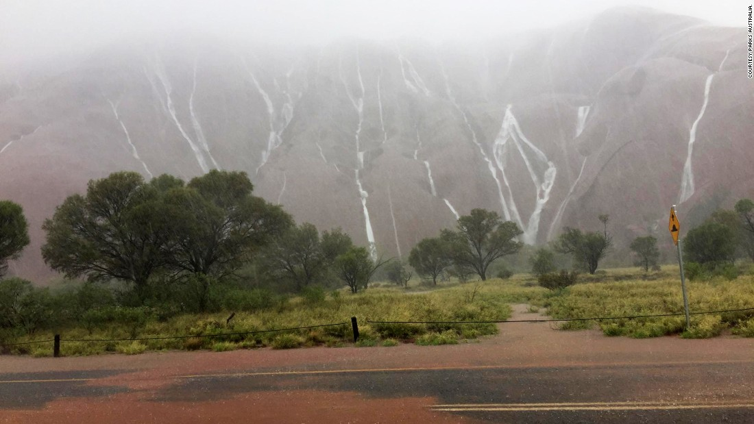 "<a href=""http://www.cnn.com/2016/12/27/asia/northern-territory-flooding-christmas/"" target=""_blank"">Heavy December rains</a> create waterfalls on the rock formations of the Uluru-Kata Tjuta National Park in  Australia."