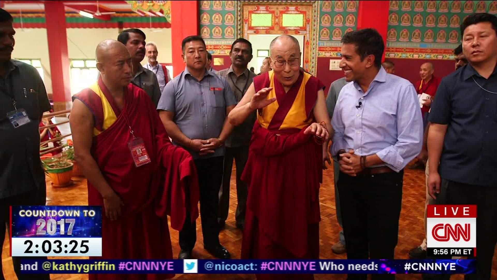 Dalai Lama gives a unique New Year's wish - CNN Video