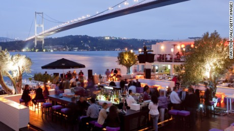 This 2005 file photo shows guests at club Reina on the shore of the Bosphorus.