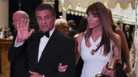 efe4a84835 Sylvester Stallone arrives at President-elect Donald Trump's New Year&#