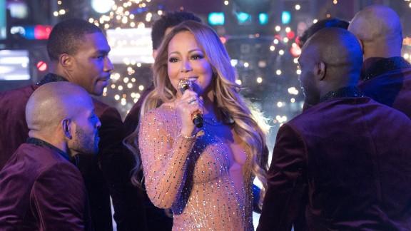 NEW YORK, NY - DECEMBER 31:  Singer Mariah Carey performs during New Year
