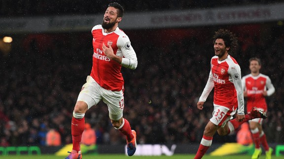 """Giroud added: """"I was off balance and I tried to deflect it -- in this position, you can't do something else. I've never done this before, so it's all about luck. It's a great feeling."""""""