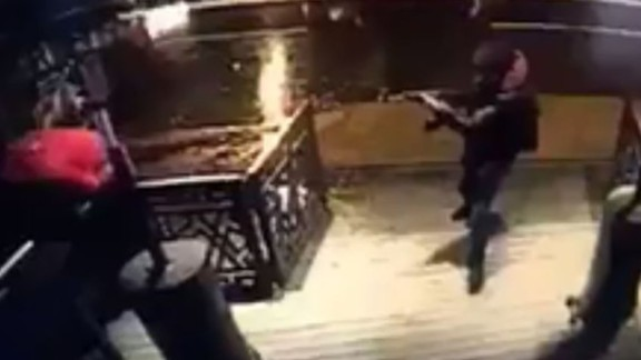 This still photo, taken from surveillance footage and released on Monday, January 2, is believed to show the gunman responsible for carrying out a New Year's Day attack on the Reina nightclub in Istanbul. The popular nightclub was attacked shortly after midnight on Sunday, January 1. At least 39 people were killed and 69 were wounded, Turkey's Interior Minister said. Authorities are still searching for the attacker.