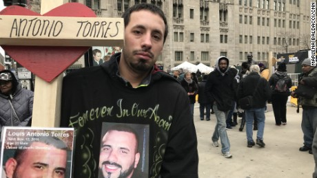Michael Torres' brother, Louis Antonio Torres, was killed in November.