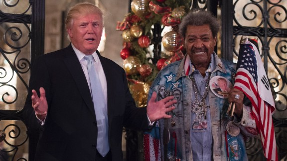 Trump stands with legendary boxing promoter Don King after meeting at Trump