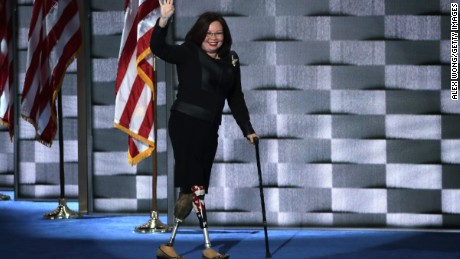Senator-elect Tammy Duckworth previously served as a Congresswoman from Illinois. She is the first member of Congress to be born in Thailand and first Asian-American woman from Congress, in addition to being a disabled veteran.