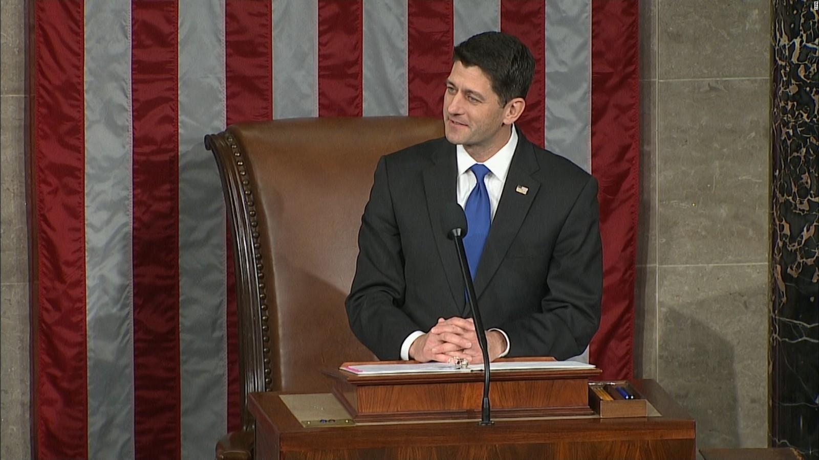 Paul Ryan Re Elected As House Speaker Tuesday   CNNPolitics