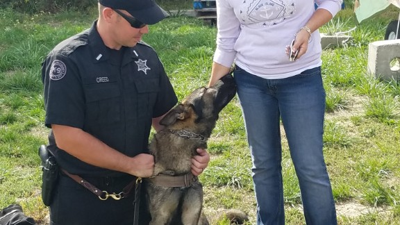 Lt. Creed named his new K9 partner Heath, after Rosemary and George Heath.