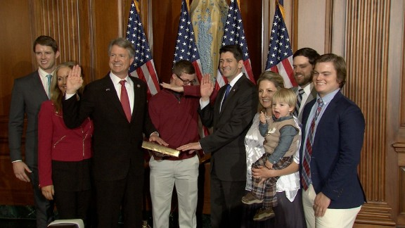 House Speaker Paul Ryan, R-Wis., holds a ceremonial swearing-in and photo opportunity with members of the 115th Congress and their families.