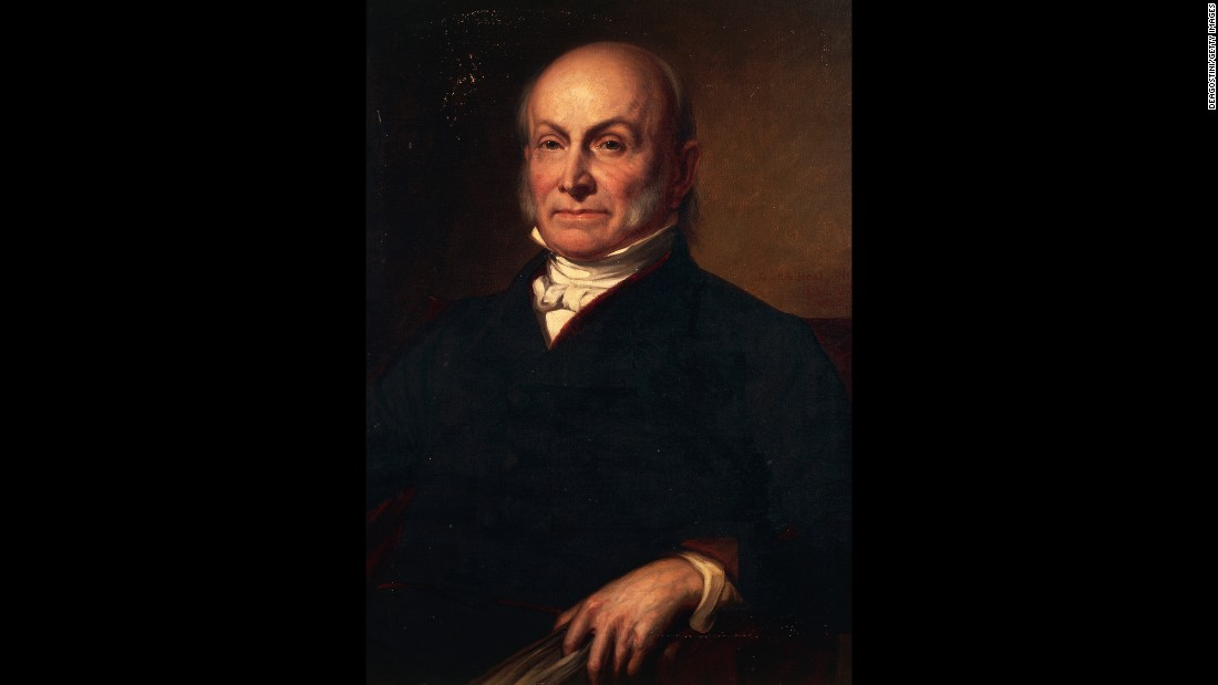 John Quincy Adams, son of former President John Adams, was inaugurated in 1825. He is one of only three presidents who did not use a Bible at his inauguration. He opted for a volume of law. Theodore Roosevelt used no Bible or book at his first inauguration in 1901. Lyndon B. Johnson used John F. Kennedy's Roman Catholic Missal during his hastily arranged swearing-in aboard Air Force One.