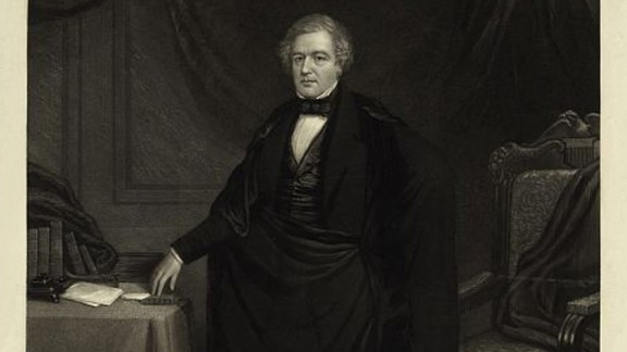 Millard Fillmore, seen here, became president after Zachary Taylor