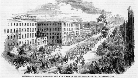 Military units precede Franklin Pierce