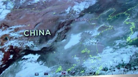 China's smog seen from above