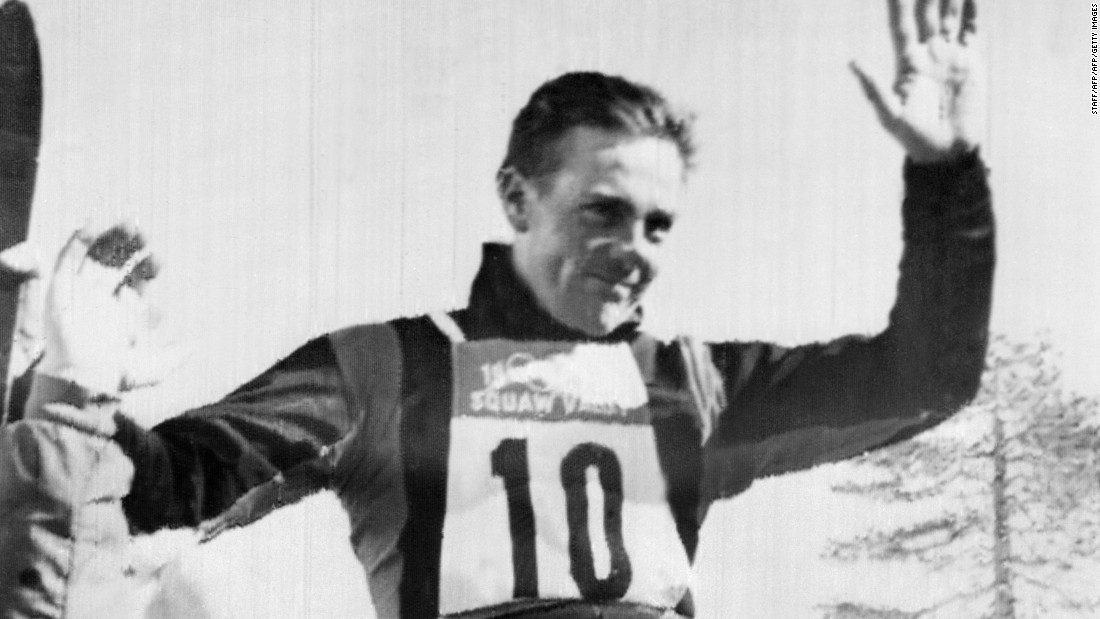 When Vuarnet won gold at the 1960 Olympics, he was the first man to do so on metal, rather than wooden, skis.